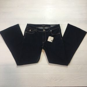 NWT WHBM Jeans Skinny Flare Leg Dark Stretch 12S